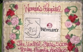 Woman's Hospital - the 500th Baby Friendly Facility - celebration cake